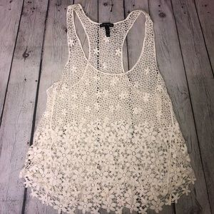 FANG Tops - FANG Crochet Lace Tank